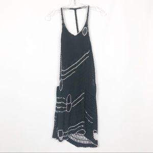 NWT Bebe Black Crochet Chain Link Dress
